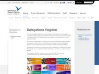 Delegations Register