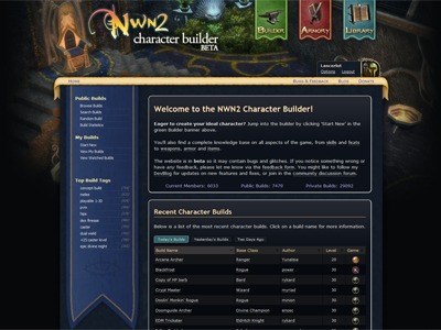 Neverwinter Nights 2 Character Builder